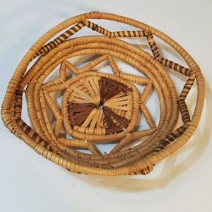 Other - Hand Woven Boho Jungalow Basket Bowl